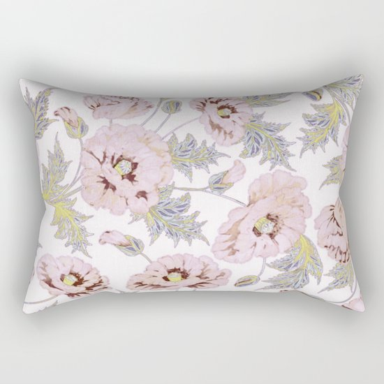 soft poppies Rectangular Pillow