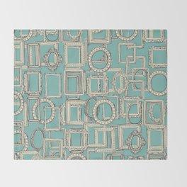 picture frames aplenty indigo duck egg blue Throw Blanket
