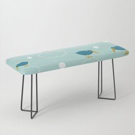 Kiwi birds on the clouds Bench