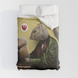 Mr. Squirrel Loves His Acorn! Comforters