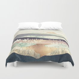 Golden Spring Reflection Duvet Cover