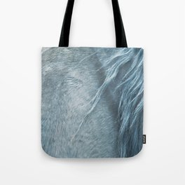 Wild horse photography, fine art print of the mane, for animal lovers, home decor Tote Bag