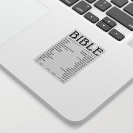 Bible Hotline Emergency Numbers Sticker