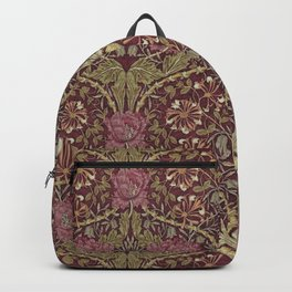 William Morris,Art Nouveau,Vintage pattern, floral victorian pattern, Backpack