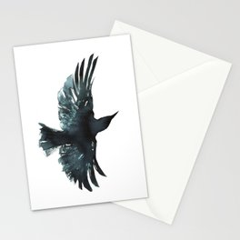 Crow Watercolour Stationery Cards
