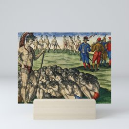 How Outinas soldiers treated the bodies of the enemy  Trophies and solemn rites after an enemys defe Mini Art Print