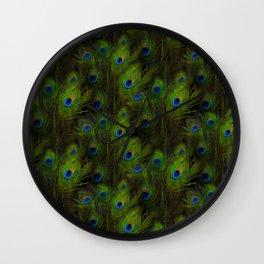 Peacock Feather Plummage Wall Clock