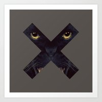 panther Art Prints featuring Panther by Zavu