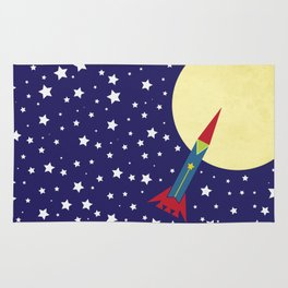 Rocket To The Moon Rug