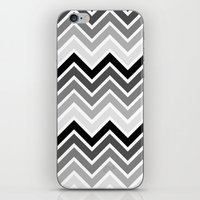plain iPhone & iPod Skins featuring ZigZag - Plain by Emelie Turander
