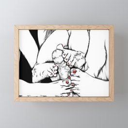 Feet Fetish Framed Mini Art Print