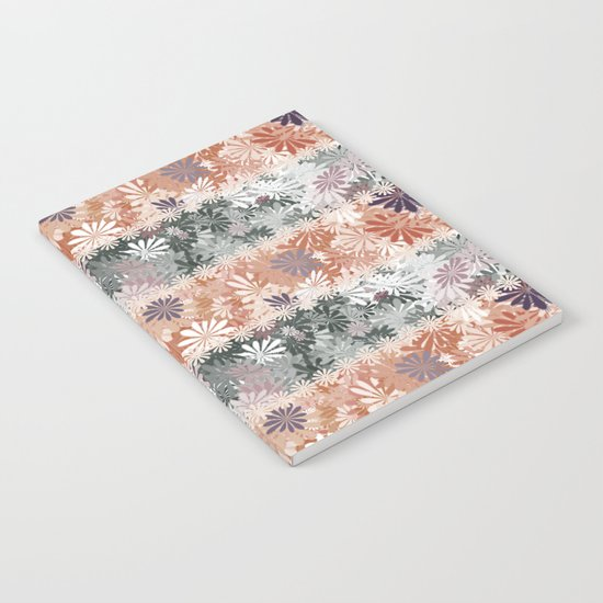 Floral Stripes Notebook