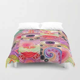 colorful words of a poem Duvet Cover