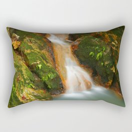 Stream in the forest Rectangular Pillow