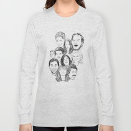 Parks and Recreation 'Rec a Sketch' Long Sleeve T-shirt