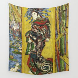 Japonaiserie by Vincent van Gogh Wall Tapestry