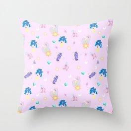 Pony Princess Print Throw Pillow