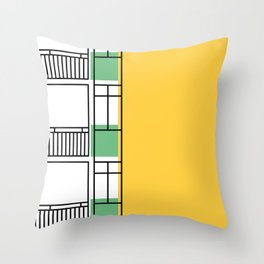 Edificio Royal Castle -Detail- Throw Pillow