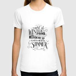 Albert Camus - In the Midst of Winter T-shirt