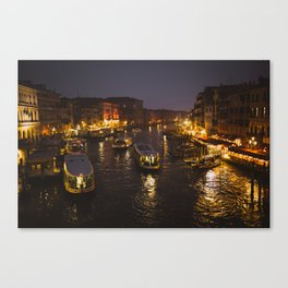 The hustle and bustle of Venice Canvas Print