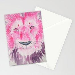 Fuchsia Lion Stationery Cards