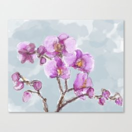 Watercolor Orchids Canvas Print