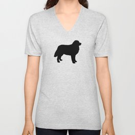 Bernese Mountain Dog Silhouette(s) Unisex V-Neck