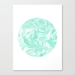Ryota - spilled ink abstract marble circle trendy must have gift for dorm college student life paint Canvas Print