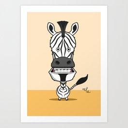 bobble zebra Art Print