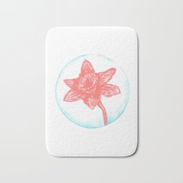 Daffodil Birth Flower - March - Coral Bath Mat