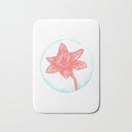 Daffodil Birth Flower - March - Coral Bath Mat
