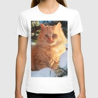 garfield T-shirts featuring Winter Garfield  by Lucie