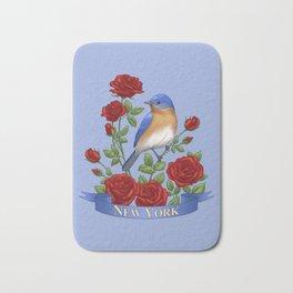 New York State Bird and Flower Bath Mat