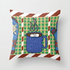 Cozy Christmas! Throw Pillow