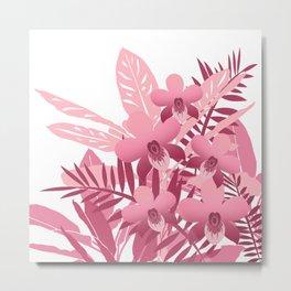 Bouquet of pink tropical plants Metal Print