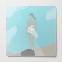 At the Ocean (modern flat graphic) Metal Print
