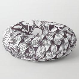 Zen Doodle Graphics zz17 Floor Pillow
