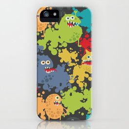 Funny microbes. iPhone Case