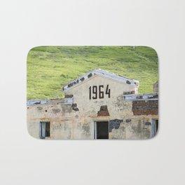 1964. Buildings of the old abandoned mercury mine Aktash. Altai Mountains, Siberia, Russia. Bath Mat
