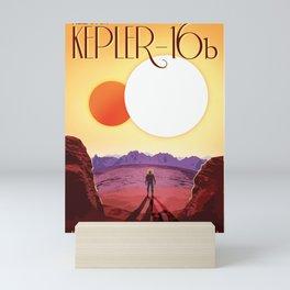 NASA Retro Space Travel Poster #8 Kepler 16b Mini Art Print