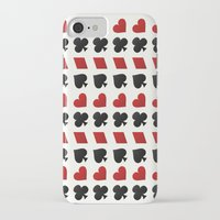 suits iPhone & iPod Cases featuring Card Suits by •ntpl•