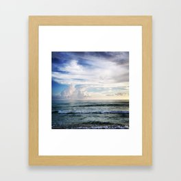 Clouds and Water Framed Art Print