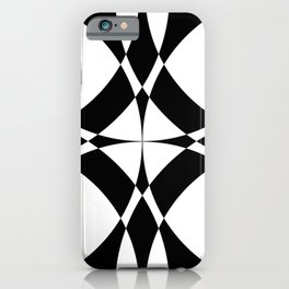Abstract Circles - Black & White iPhone Case
