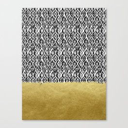 Black Gold Boho V Canvas Print