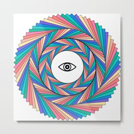 Rainbow Vision Metal Print