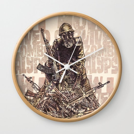 How I Survived The Zombie Apocalypse Wall Clock
