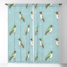 Hummingbird Jewel Blackout Curtain