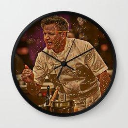 Gordon Ramsay Artistic Illustration Sparkle Style Wall Clock