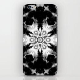 Black and White Kaleidoscope iPhone Skin