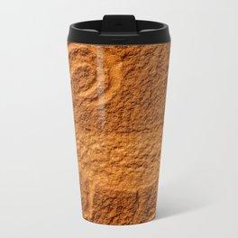 Bighorn Sheep Petroglyph - Moab, Utah Metal Travel Mug